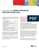 Red Hat Network Corporate Account Practices