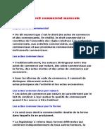 Resume de Droit Commercial Marocain