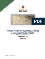 Evaluacion metalurgica operacional del area de chancado - lixiviacion año 2016.docx
