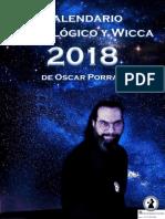 Calendario Astrológico y Wicca 2018
