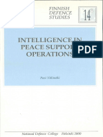 Intelligence in Peace Support Operations