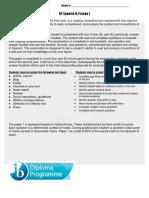 dp espanol b explicacion prueba 1 paper 1 explination