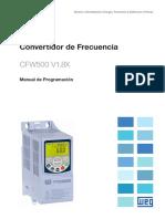 WEG Cfw500 Manual de Programacion 10002296096 1.8x Manual Espanol
