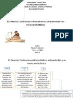 antecedentes y su evolución histórica de El Derecho Contencioso Administrativo