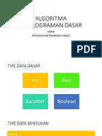 Ppt Algoritma Pemrograman Dasar-1