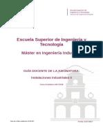 Guia Docente 335661207 - Instalaciones Industriales II - Curso 1718