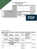 Jadwal Kegiatan Blok Xxi-2015-2016