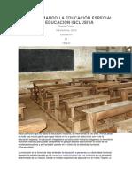 Transformando La Educación Especial en Educación Inclusiva