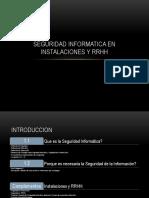 Trabajo de Seguridad Informatica en Instalaciones y Rrhh