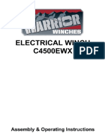 Warrior C4500 EWX Winch Manual