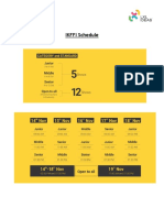 IKFFI Schedule