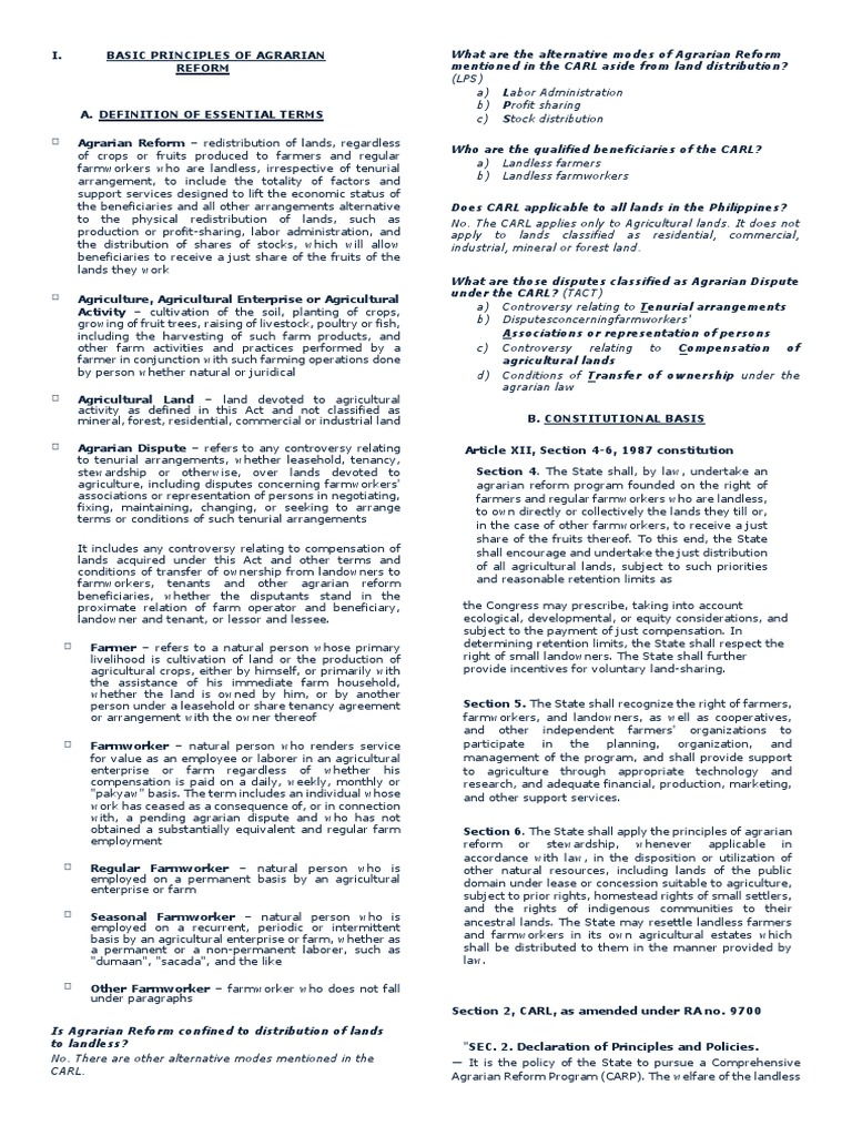 Basic principles of agrarian leasehold estate farms platinumwayz