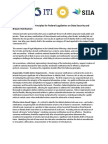 Tech Industry Principles for Federal Legislation on Data Security and Breach Notification