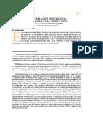 Interpretacin Sitemtica Un Concepto Realmnte Til Consideraciones Sobre El Sistema Jurdico Como Factor de Interpretacin 0