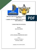 Universidad de las Fuerzas Armadas -ESPE_Laboratorio de soldadura_Informe Smaw