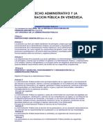 3 El Derecho Administrativo y La Administracion Pública en Venezuela