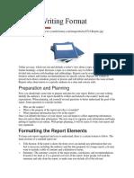 Report Writing Format
