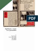 Jacques Lacan, Jacques-Alain Miller et al - Significante y sutura en el psicoanálisis - 1973.pdf