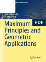 Maximum Principles and Geometric Applications