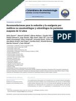 SEdacion Recomendaciones Para La Sedación y La Analgesia Por Médicos No Anestesiólogos y Odontólogos de Pacientes Mayores de 12 Años