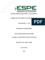 Informe de Electronica Diodos semicnductores