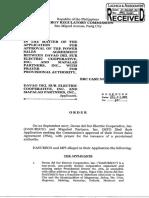 037-A ERC Order d 12.11.17 (Obtained From ERC Docket)