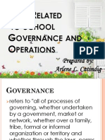 Laws Related to School Governance and Operations Arlene L. Catindig