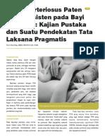 Duktus Arteriosus Paten Atau Persisten Pada Bayi Prematur Kajian Pustaka Dan Suatu Pendekatan Tata Laksana Pragmatis