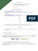 Dividir Decimales