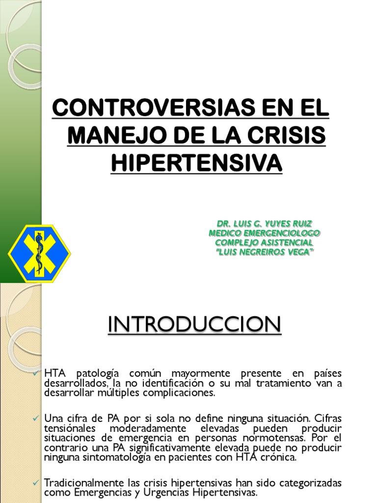 Tratamiento de emergencia hipertensiva pdf