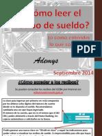 Cómo Leer El Recibo 2014 Ademys