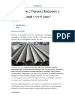 What is the Difference Between a Steel Pipe and a Steel Tube