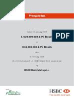HSBC Bank Malta Plc Prospectus