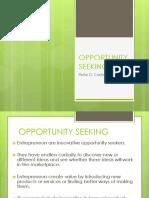 Opportunity Seeking