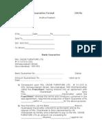 Model Bank Guarantee Format100 Rs