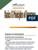 Basics & Principles of Insurance