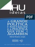 A grande política em Nietzsche e a política que vem em Agamben - Marcia Junges 210cadernosihuideias.pdf