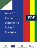 Exportar a la Union Europea