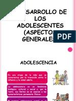 Desarrollo de Los Adolescentes Aspectos Generales