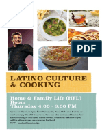 Latino Culture and Cooking Poster