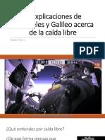5. Explicaciones de Aristóteles y Galileo Acerca de La Caída Libre