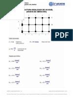 Ejemplo_Estructura Idealizada de 1 Nivel_Modos de Vibración