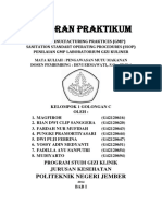 Laporan Praktikum 5 Good Manucfacturing Practices & Sanitation Standart Operating Procedures (Penilaian Gmp & Ssop Laboratorium Gizi Kuliner)