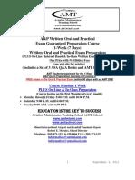 Amt School 1-Week a p Guaranteed Written Oral Practical Exam Preparation Course Agenda