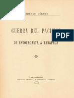 Bulnes Gonzalo - Guerra Del Pacifico de Antofagasta a Tarapaca