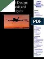 Diseno de Aviones Sintesis y Analisis
