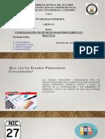 Consolidación de Estados Financieros Ejercicio Practico