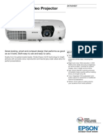 Epson EB X7 Video Projector Datasheet