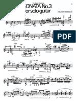 Sonata No. 3 para guitarra Biberian