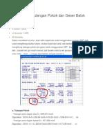Perhitungan Tulangan Pokok Dan Geser Balok Dengan SAP